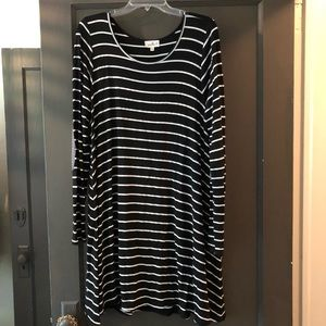 Anthropologie black and white striped dress